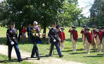 Governor  Wood laying a wreath