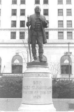 Statue commemorating Gen. Moses Cleaveland