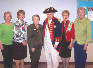 The Coushatti Trace NSCAR chapter showing the officers with Don Stone, OFPA-Governor, Texas Society